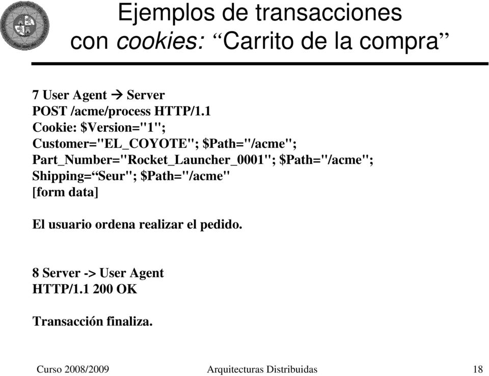 "1 Cookie: $Version=""1""; Customer=""EL_COYOTE""; $Path=""/acme""; Part_Number=""Rocket_Launcher_0001"";"