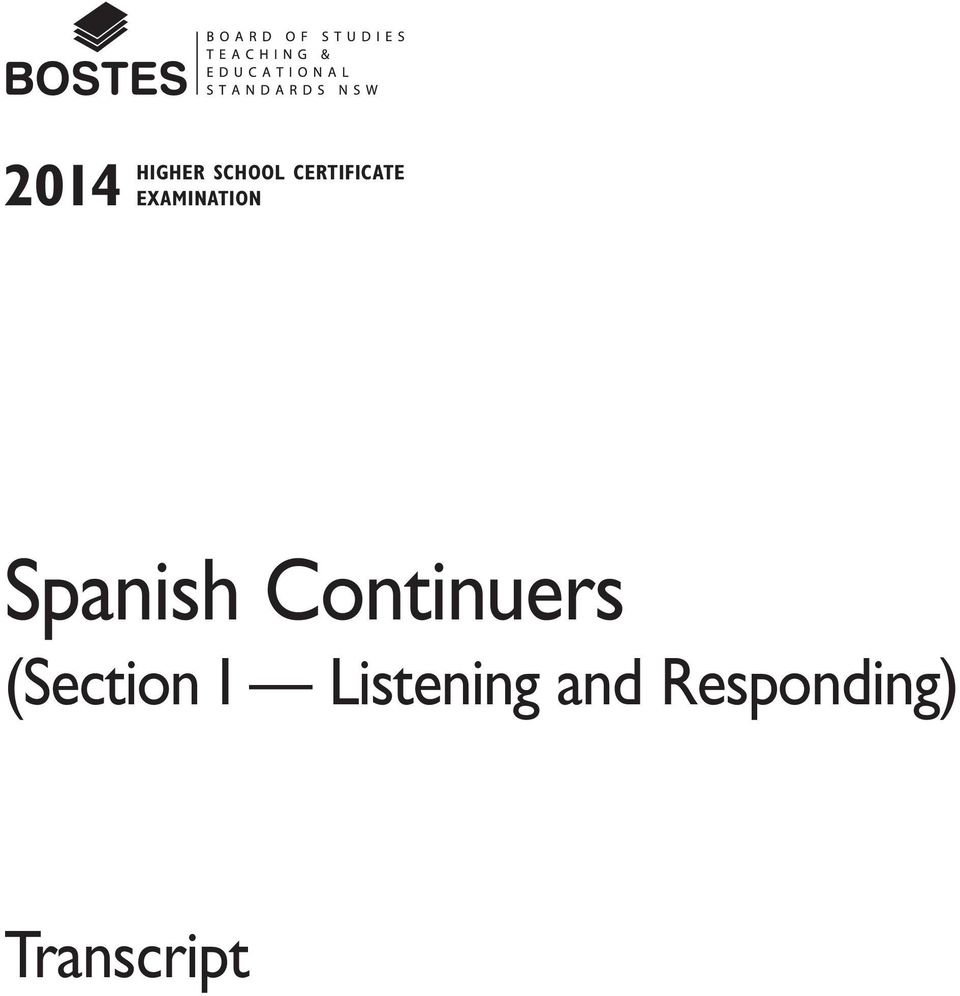 Spanish Continuers (Section