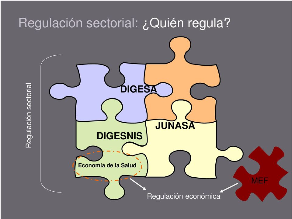 Regulación sectorial DIGESA