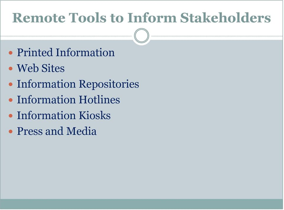 Information Repositories Information