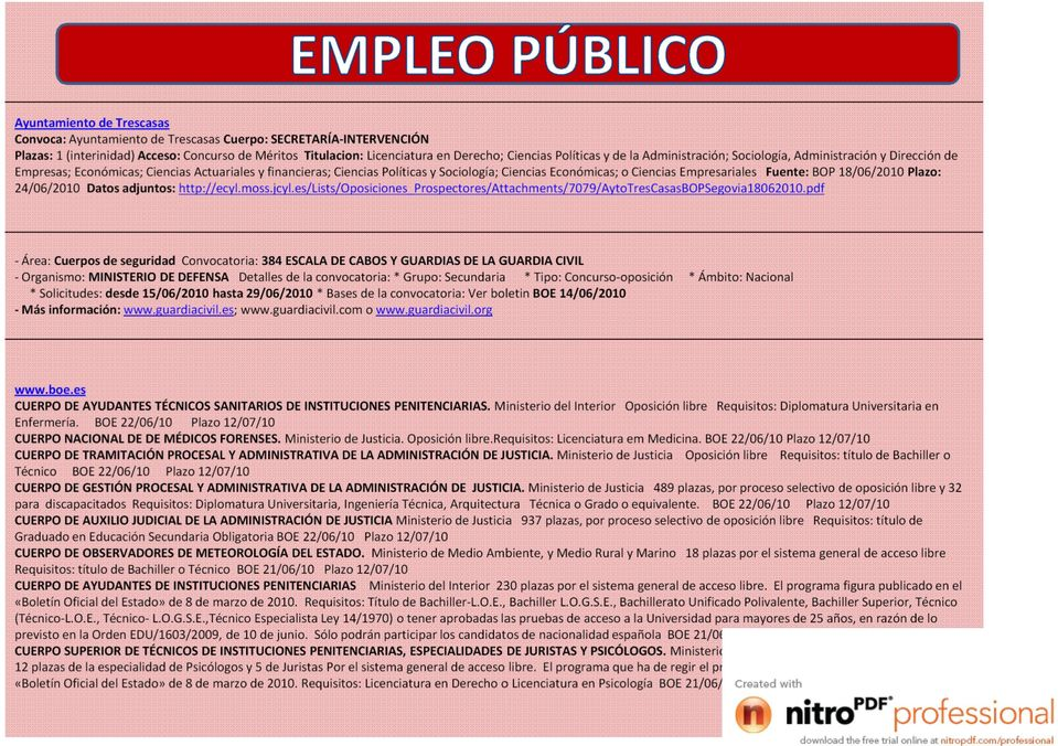 Secretar a intervenci n pdf for Boe ministerio del interior