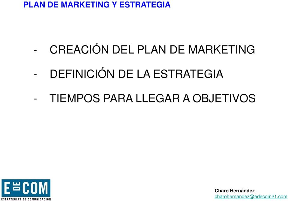 MARKETING - DEFINICIÓN DE LA