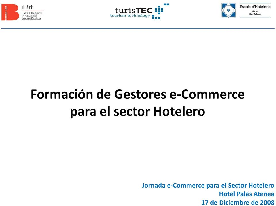 e-commerce para el Sector Hotelero