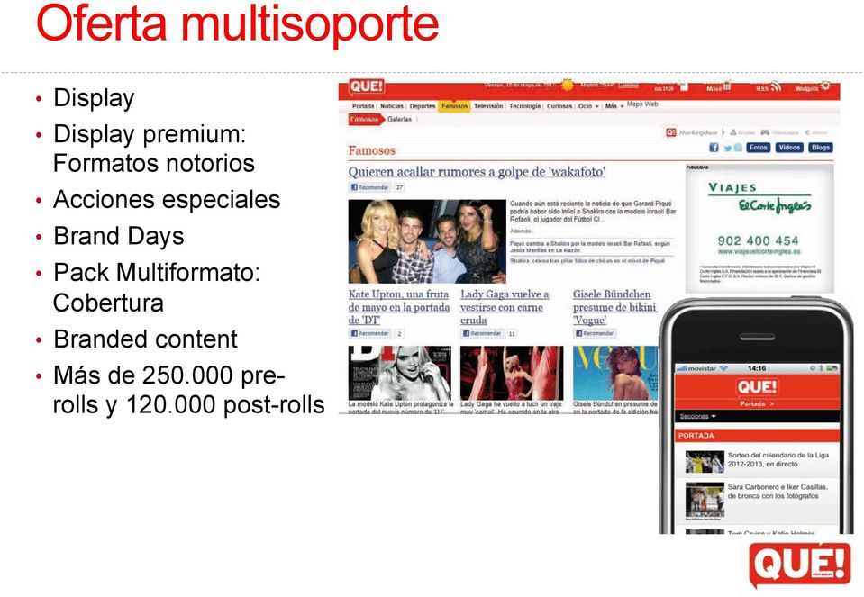 Days Pack Multiformato: Cobertura Branded