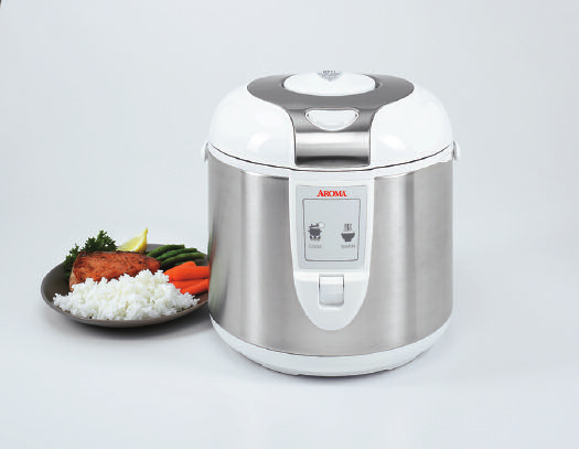 6-Cup Electric Rice Cooker & Food Steamer