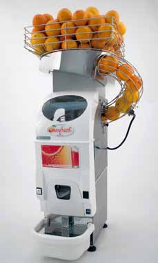 OR M5 Dispensador opcional con introducción automática de las naranjas. Optional hopper with automatic orange loading.