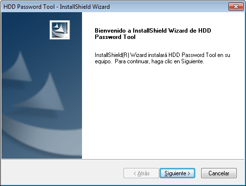 Capítulo 3: Cómo instalar HDD Password Tool En este capítulo se describe cómo instalar HDD Password Tool.