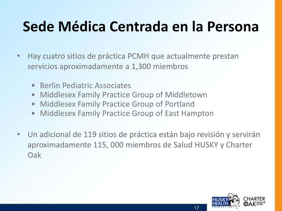 Middlesex Family Practice Group of Portland Middlesex Family Practice Group of East Hampton Un adicional de