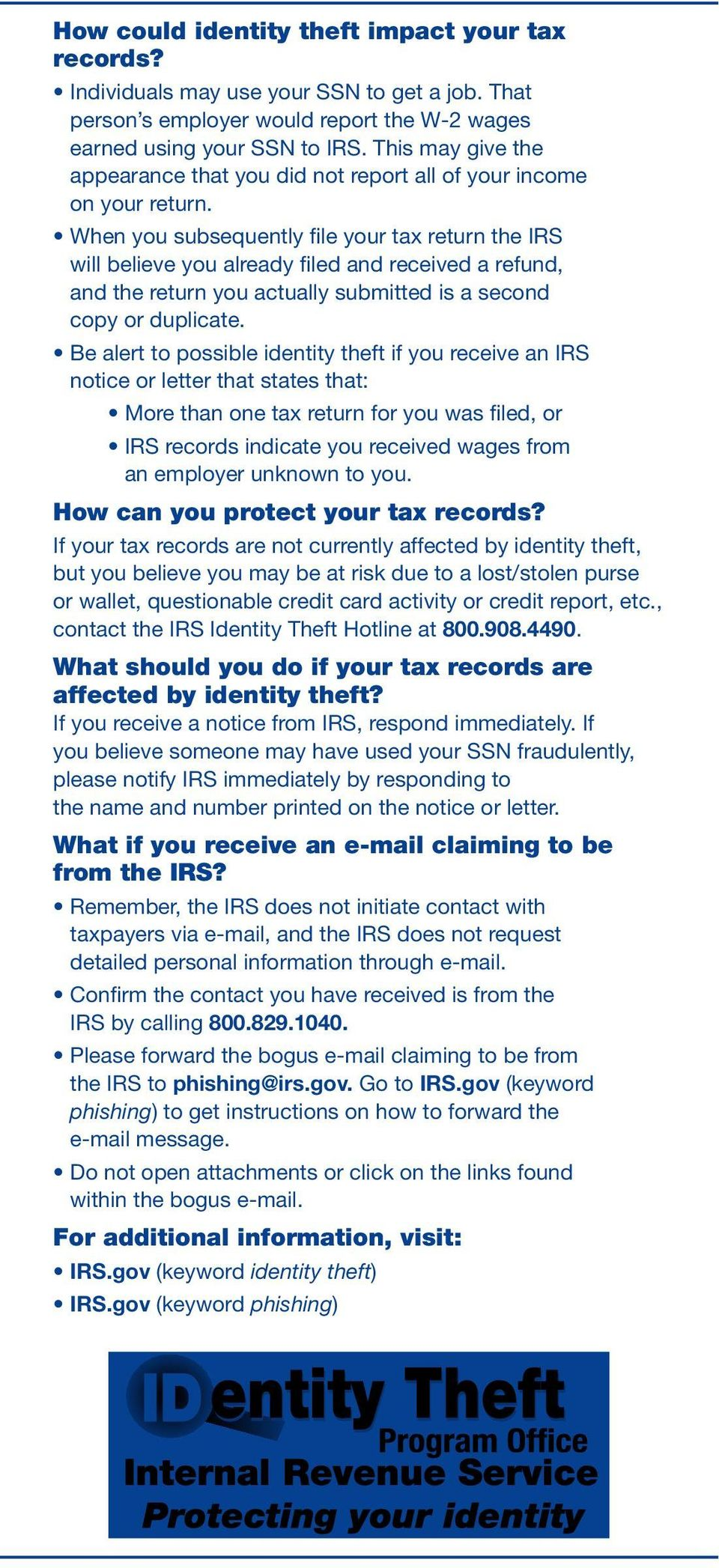 How can you protect your tax records?