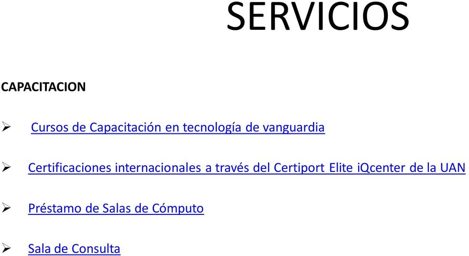 internacionales a través del Certiport Elite
