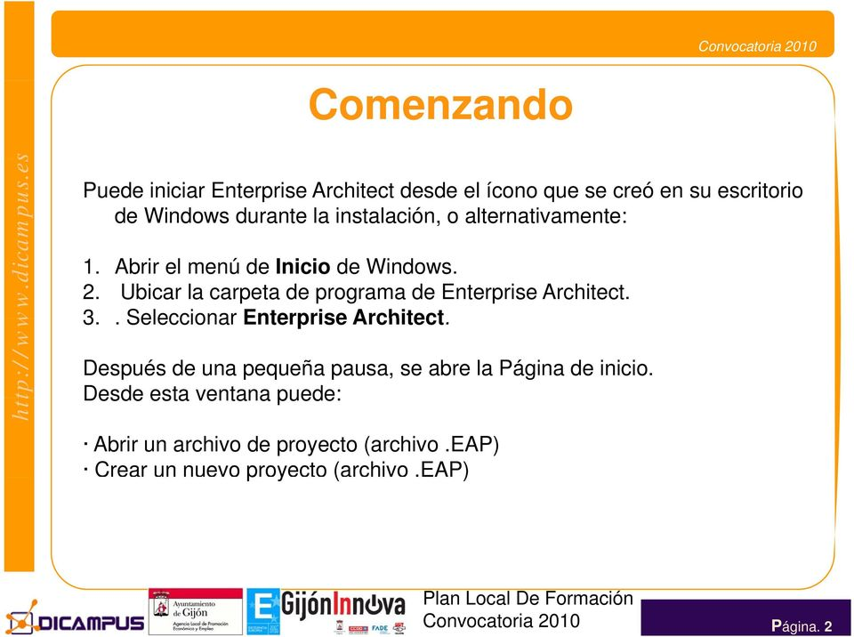 Ubicar la carpeta de programa de Enterprise Architect. 3.. Seleccionar Enterprise Architect.