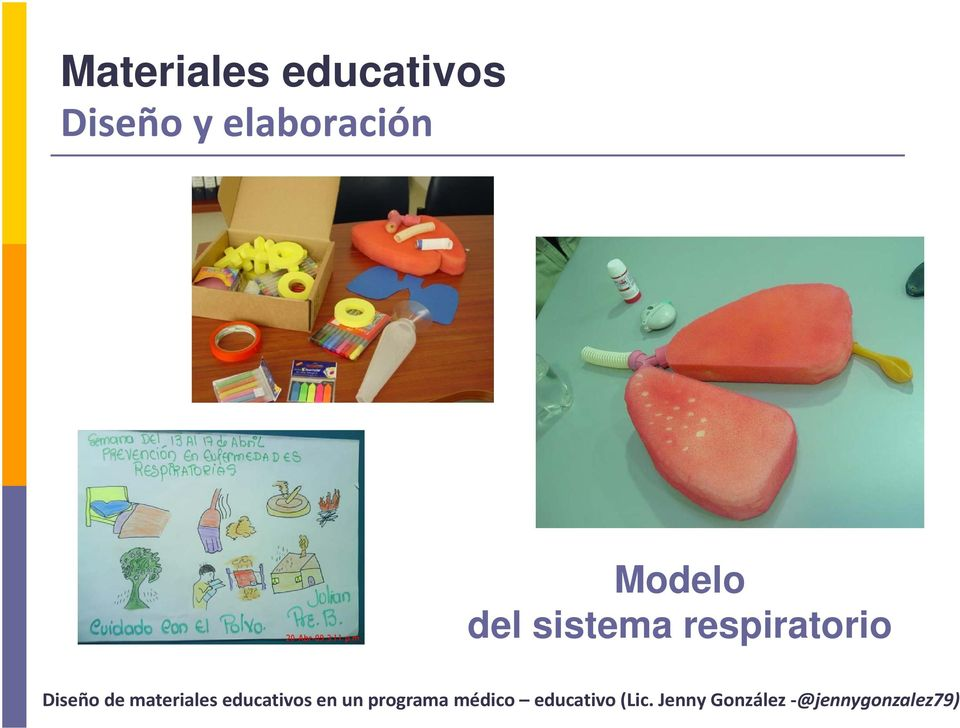 materiales educativos en un programa