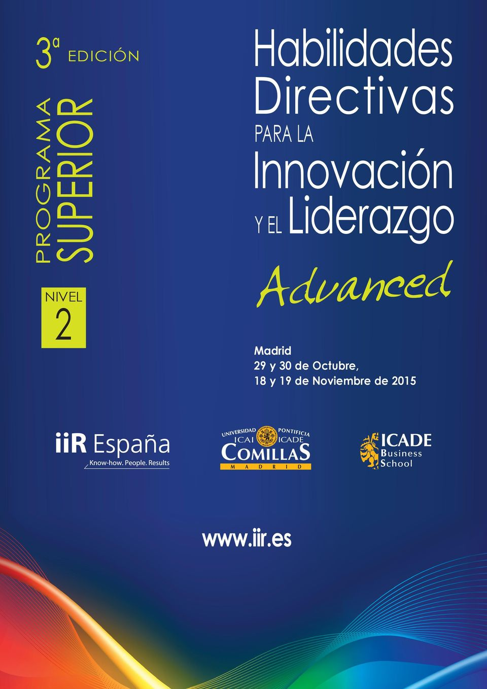 Y EL Liderazgo Advanced Madrid 29 y 30 de