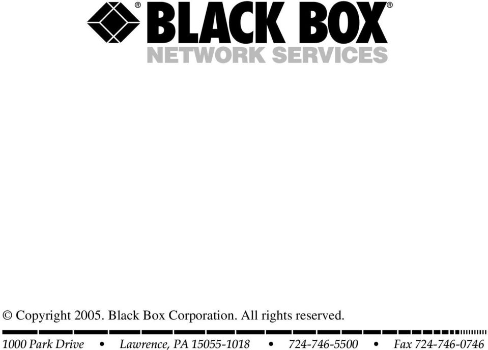 copyright black box corporation  all rights reserved