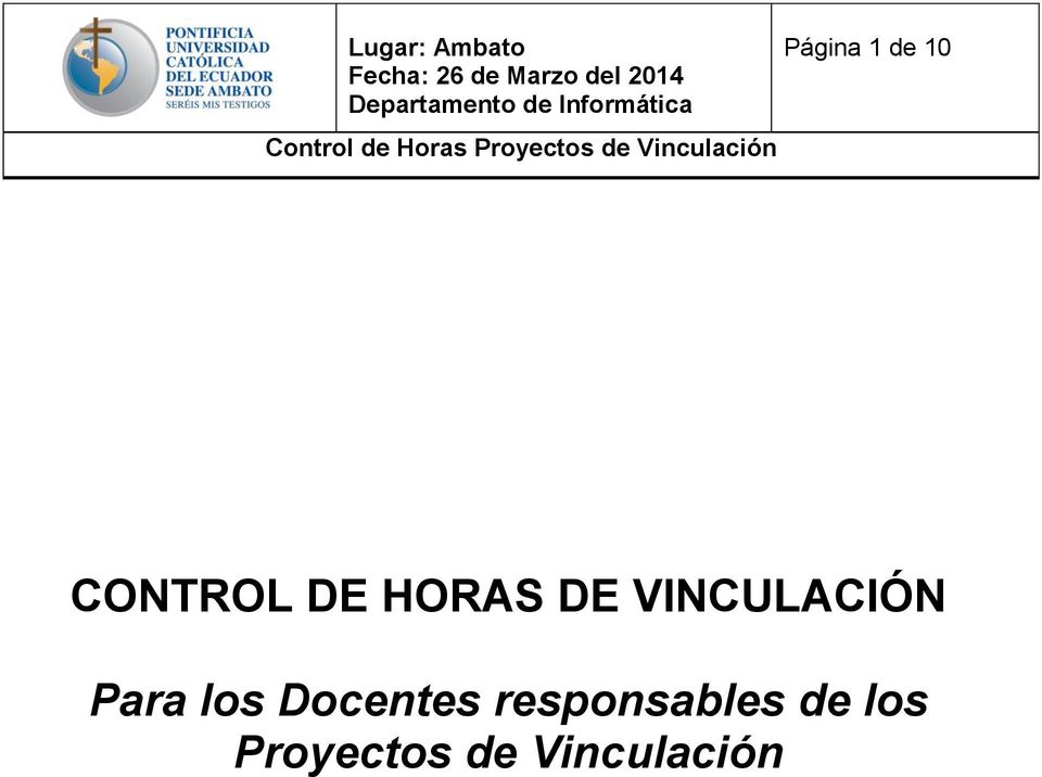 los Docentes responsables