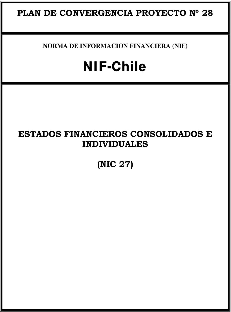 (NIF) NIF-Chile ESTADOS