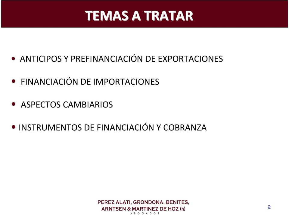 FINANCIACIÓN DE IMPORTACIONES