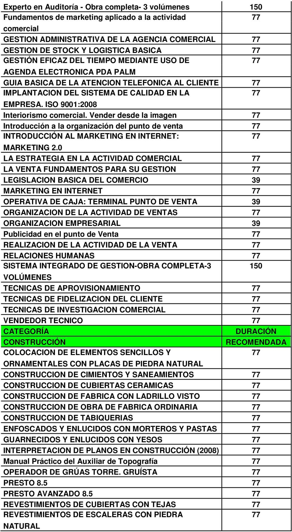 ISO 9001:2008 Interiorismo comercial. Vender desde la imagen 77 Introducción a la organización del punto de venta 77 INTRODUCCIÓN AL MARKETING EN INTERNET: 77 MARKETING 2.