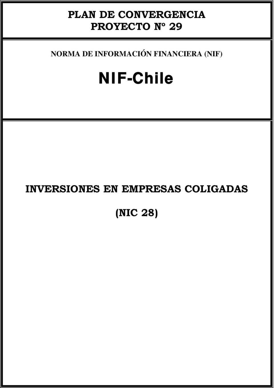 FINANCIERA (NIF) NIF-Chile