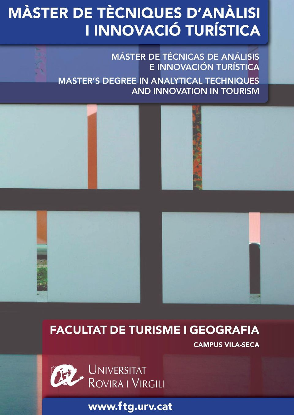 DEGREE IN ANALYTICAL TECHNIQUES AND INNOVATION IN TOURISM