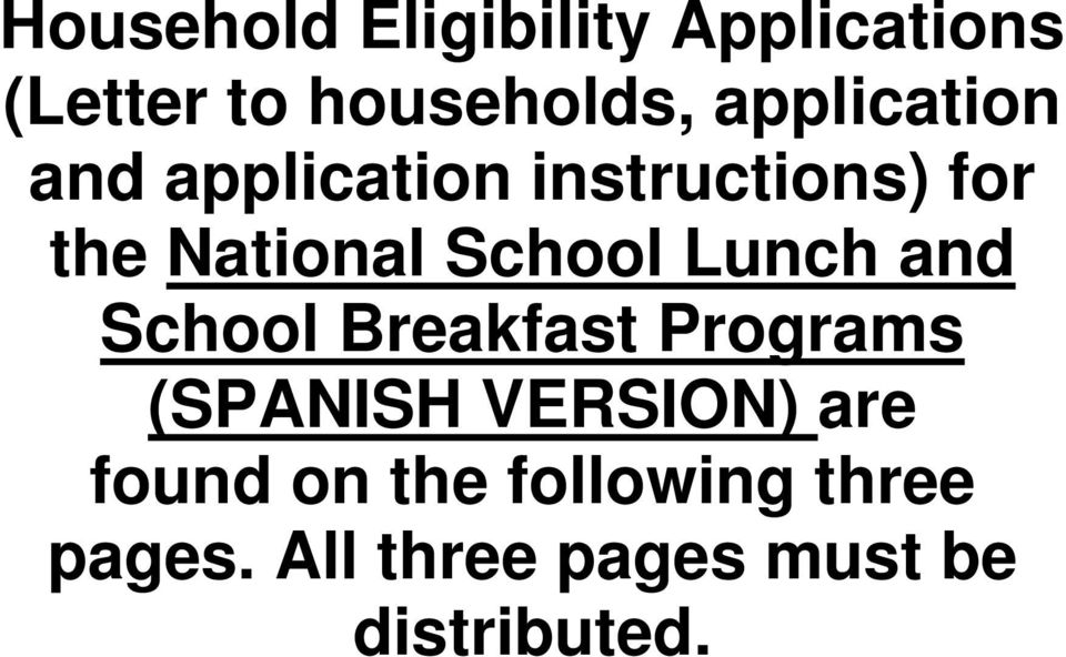 School Lunch and School Breakfast Programs (SPANISH VERSION)