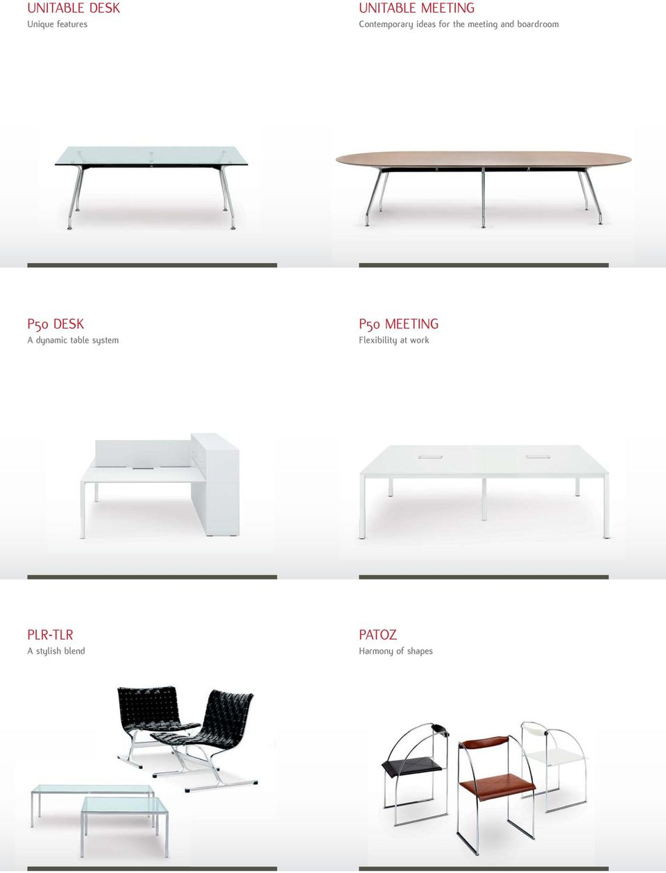 P50 DESK A dynamic table system P50 MEETING