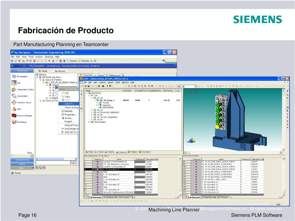 Machining Siemens Product Line Planner