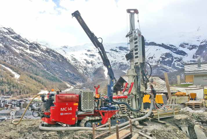 MC 15 Compact size and high performance The is a high performance hydraulic drilling rig designed for civil engineering works such as micropiles, anchors and general ground improvements.