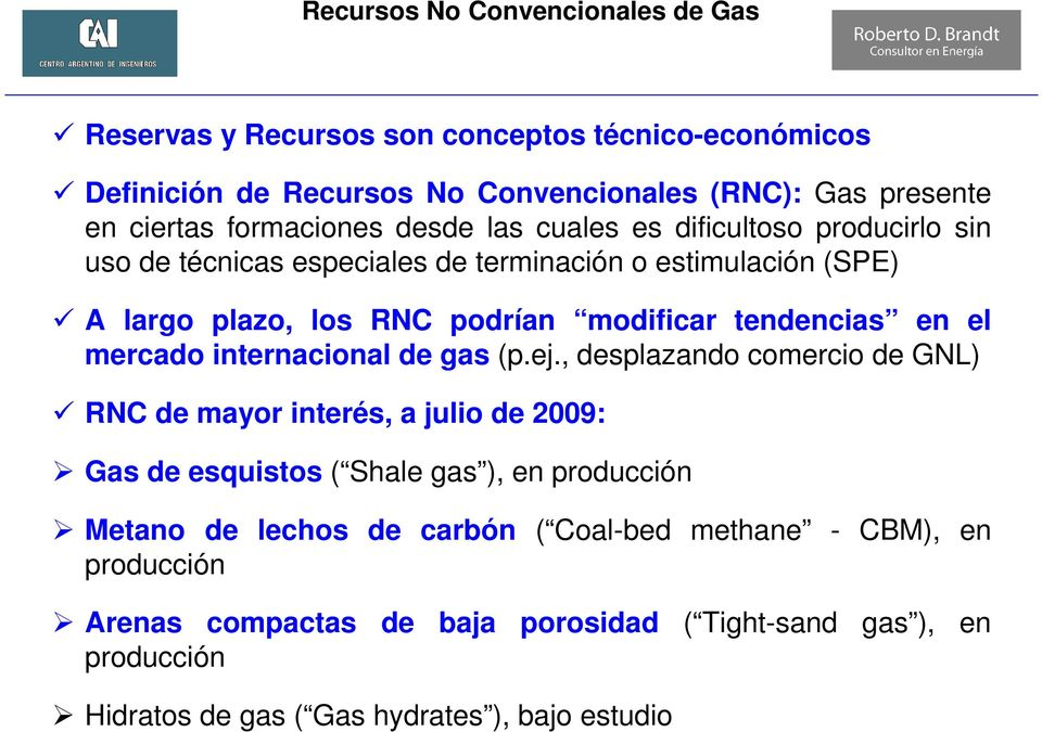 tendencias en el mercado internacional de gas (p.ej.