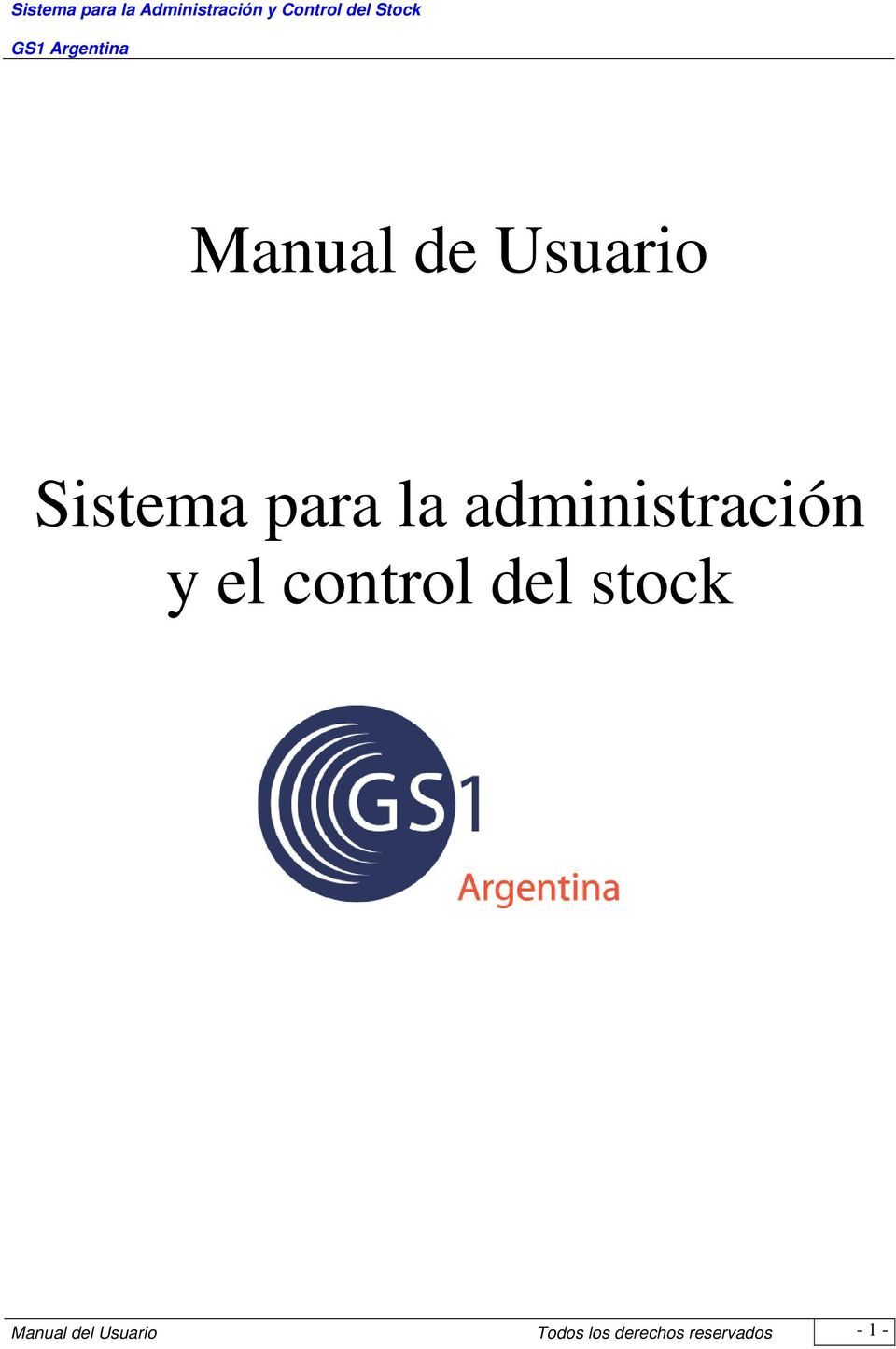 del stock Manual del Usuario