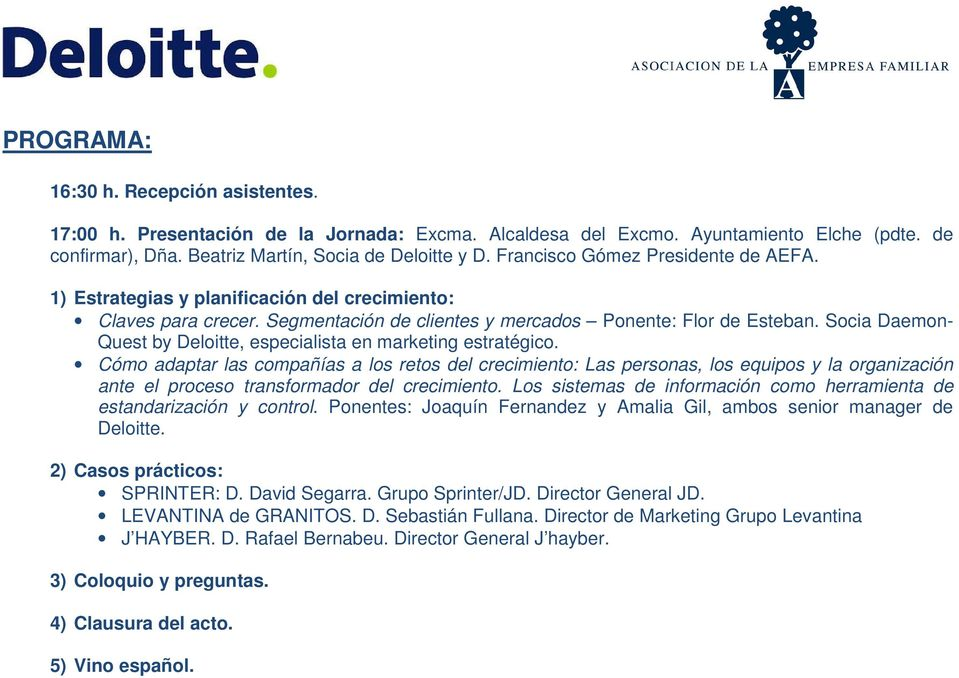 Socia Daemon- Quest by Deloitte, especialista en marketing estratégico.
