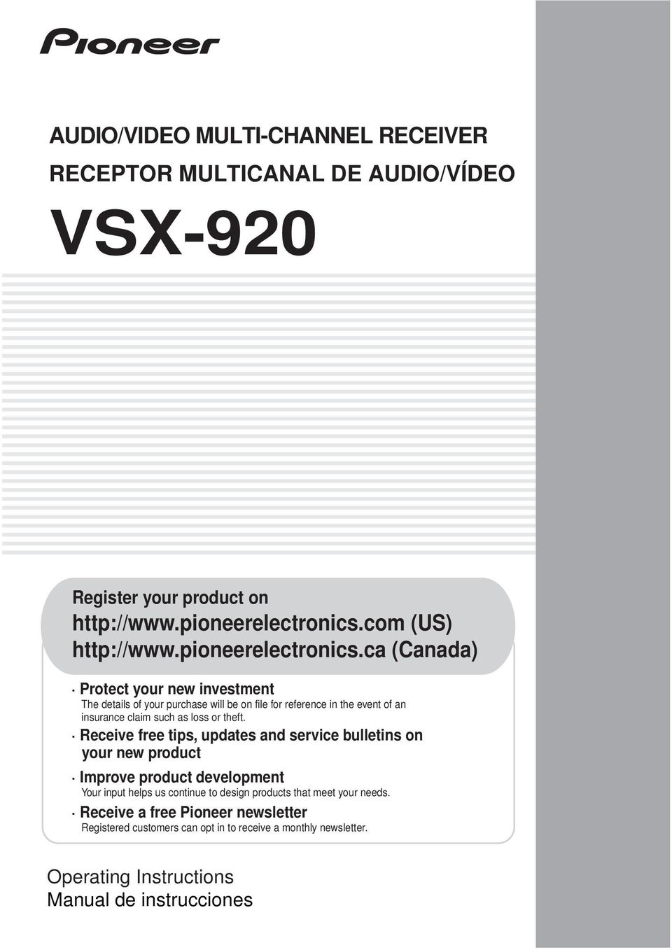 Vsx 920 Manual And Protection Circuit Design Of 200 300a Igbt Dave Ross Blog Array Audio Video Multi Channel Receiver Receptor Multicanal De Rh Docplayer Es