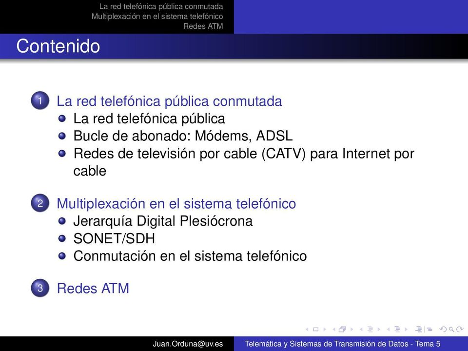 Internet por cable 2 Jerarquía Digital