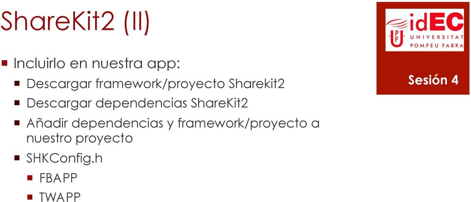 dependencias ShareKit2 Añadir dependencias y