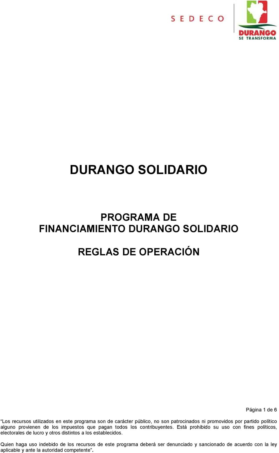 FINANCIAMIENTO  REGLAS