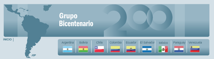 Grupo Bicentenario Rotating presidency each 6 months 2008 Meetings : Sucre (May ) Quito ( August ) Mexico (September): Inclusion of Spain & Portugal.