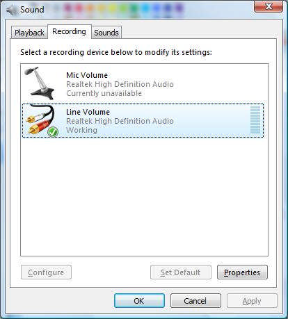 IF the option Level does not show up in Playback, please update Vista