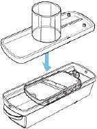 Rinse and dry thoroughly. Do not immerse the motor housing, cord or plug in water at any time. To Assemble the Electric Mandoline Slicer: 1 Slide the collection tray into the container.