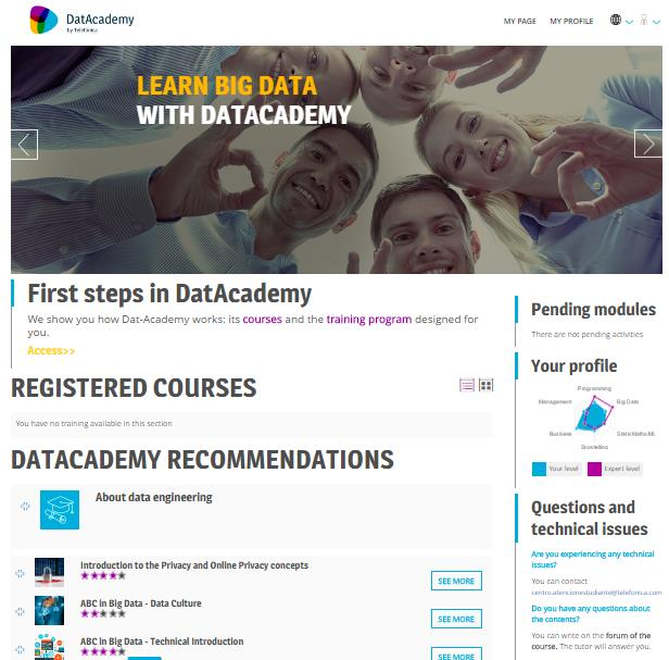 And now? 7 Everything is set up for you to access DatAcdemy via Telefónica Accounts.