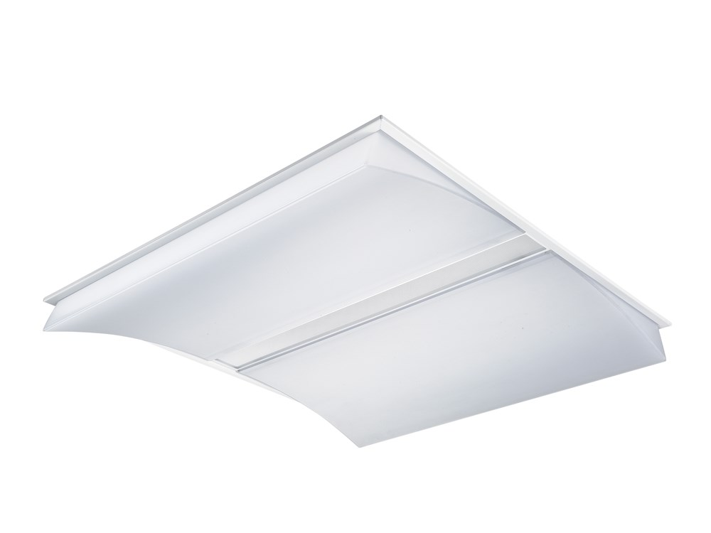 Características del producto Concord is a high performance low glare luminaire for offices and education applications. Ceiling recessed 600x600mm, with Micro Prismatic optics. White RAL 9010.