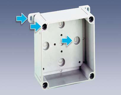in cm m = metric o = smooth walls tv = with moulded cable gland TK empty enclosures IP 66 polystyrene or glass-fibrereinforced