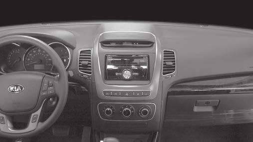 INSTALLATION INSTRUCTIONS FOR PART 95-7355B KIT FEATURES Double DIN radio provision Painted matte black APPLICATIONS Kia Sorento 2014-2015 (excluding factory NAV equipped vehicles) 95-7355B Table of
