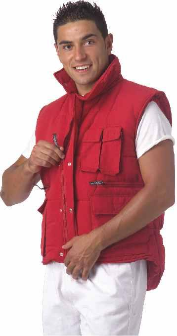 VEST S3200 Padded, multi pocket, cut-wind on armhole. 65% Polyester 35% Cotton.