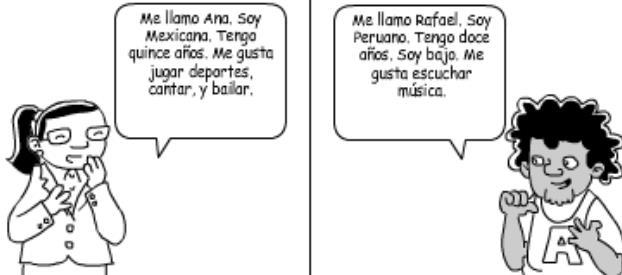 4B. Directions: Write a 30-word note in Spanish. Be sure that you satisfy the purpose of the task. Remember to include a greeting and closing. Me llamo Ana. Soy de México. Yo tengo once años.