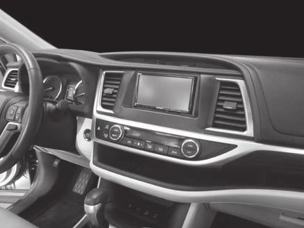 Installation instructions for part 95-8248B KIT FEATURES Double DIN radio provision Painted black Toyota Highlander 2014-up 95-8248B Table of Contents Dash Disassembly Toyota Highlander 2014-up.