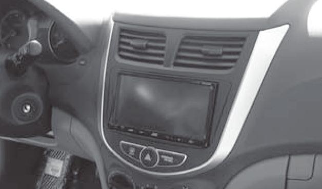 Installation instructions for part 99-7347B Hyundai Accent (excluding Radio Delete models) 2012-up 99-7347B KIT FEATURES ISO DIN radio provision with pocket ISO DDIN radio provision Painted Black to