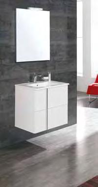 y originales tiradores ONIX introduces a functional bathroom concept through the opening of its doors and drawers,