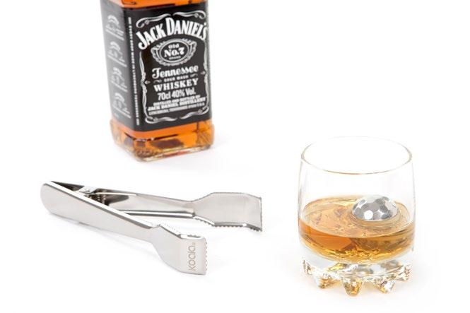 SET WHISKEY & THE ROCKS SET CHAMPAGNE Con gel enfriador incluido With cooling gel inside