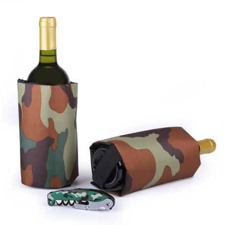 1 Wine Cooler Bag, 1 wine stopper and 1 Retro corkscrew.