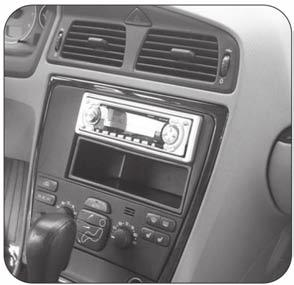 INSTALLATION INSTRUCTIONS FOR PART 99-9227 KIT FEATURES DDIN radio provision ISO DIN radio provision with pocket Painted custom color to match factory APPLICATIONS Volvo V70 2005-2007 Volvo S60